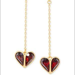 Kate Spade new Crystal Heart Linear Earrin…